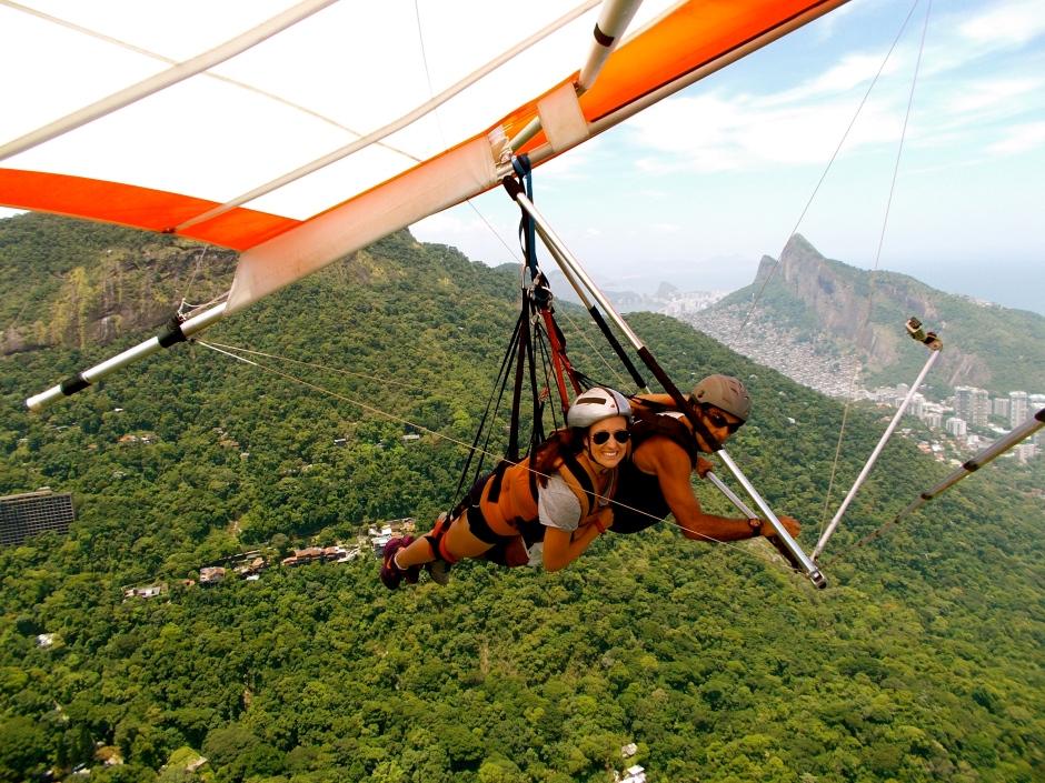Me hang-gliding in Rio de Janeiro, Brazil
