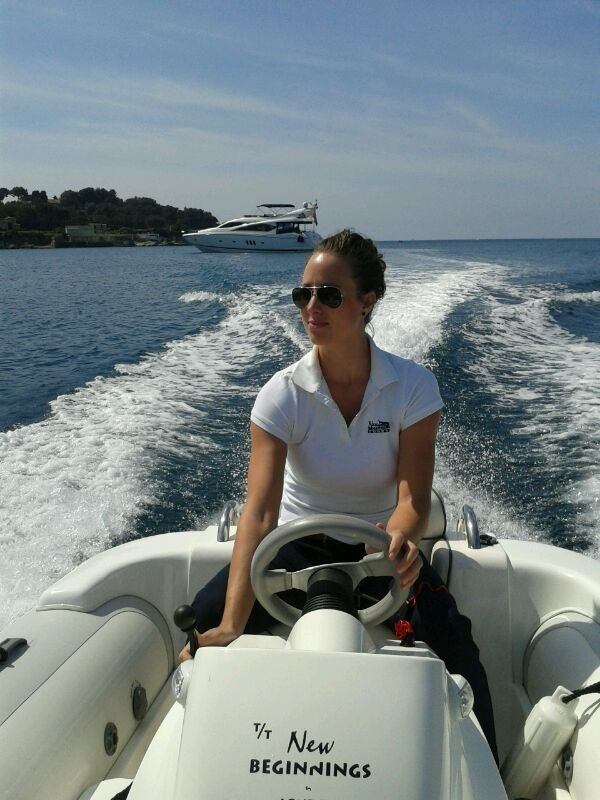 Driving the tender in Juan les Pins, France