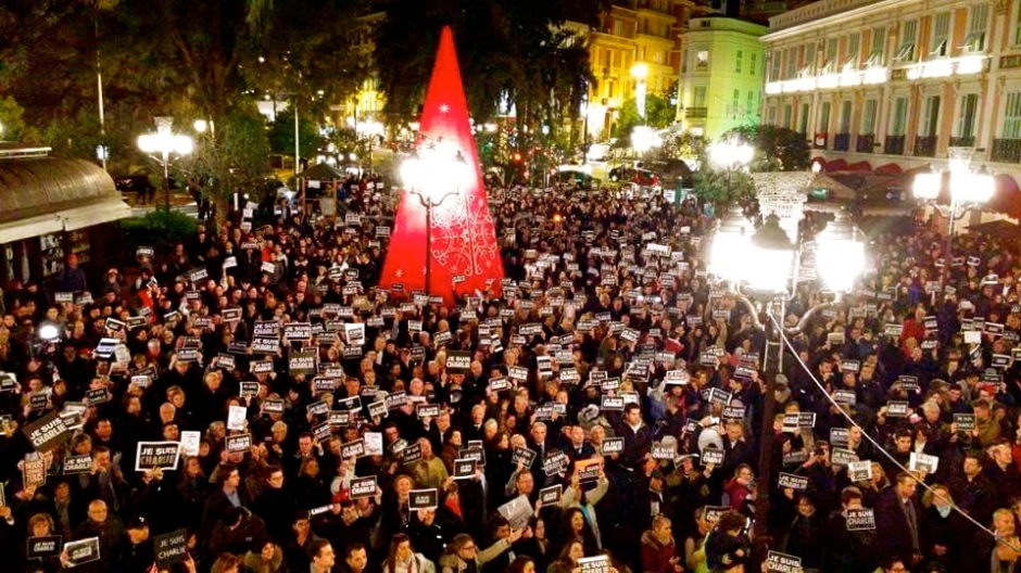 Je suis Charlie  -- a peaceful rally organised by the Monaco Press Club