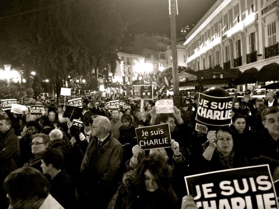 MONACO -- Tribute to victims of the Charlie Hebdo attacks