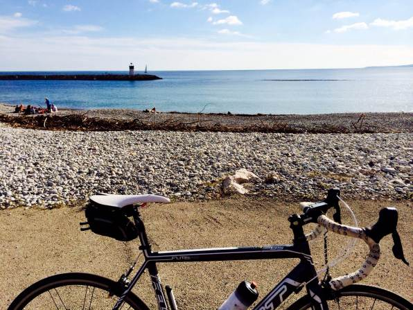 My bike -- Maxi Jazz -- just outside Cagnes s Mer