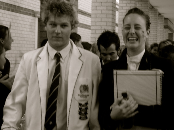 The Beaulieu College Head Boy (Sean Thorney) and I in 2005